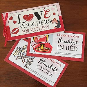 personalized coupon book template - personalized coupon book romantic gift vouchers of love
