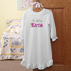 Personalization Mall Girls Personalized Nightgown with Butterflies at Sears.com