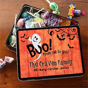 Personalized Halloween Ghost Candy Tin - 7463