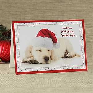 Personalization Mall Personalized Puppy Dog Holiday Greeting Card at Sears.com