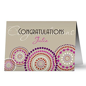 Congratulations Personalized Greeting Cards - 7477