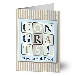 Personalized Congratulations Greeting Cards - 7478