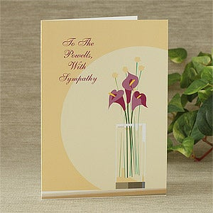 Personalized Sympathy Cards - Flowers - 7479