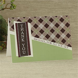 Personalized Thank You Note Greeting Cards - 7483