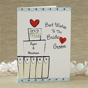 Best Wishes Personalized Wedding Cards - 7485