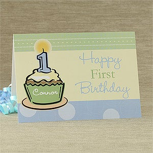 Baby's First Birthday Personalized Birthday Cards - 7489