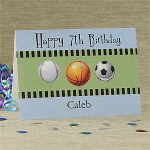 Personalized Birthday Cards - Sports Greeting Card - 7490