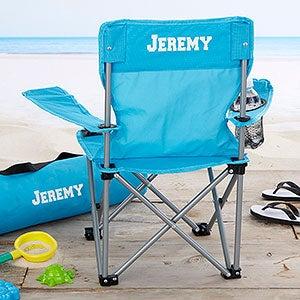 Kids Personalized Folding Chairs - Blue