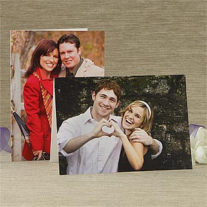 Romantic Photo Personalized Greeting Cards - 7499