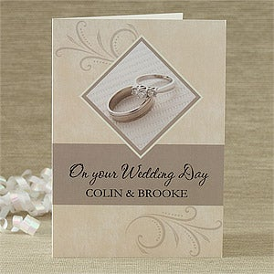 Personalized Greeting Cards - On Your Wedding Day - 7525