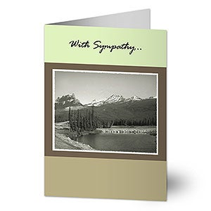 Personalized Sympathy Cards - Mountain View - 7526