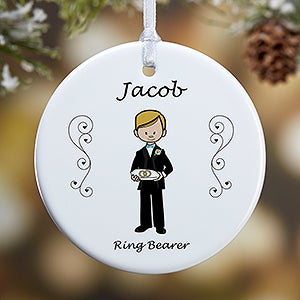 Personalized Wedding Party Ornaments 7528