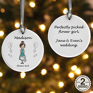 Personalized Wedding Party Ornaments - 7528