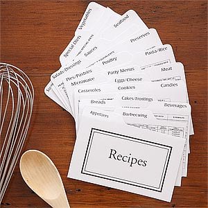 Recipe Card Box Divider Set - 7543