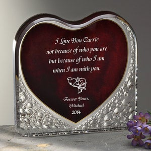 Personalized Gift Keepsake Sculpture - Loving Heart - 7544