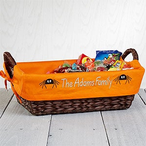 Personalized Halloween Wicker Candy Basket - 7548