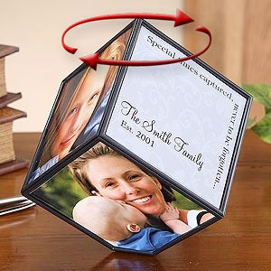 Personalization Mall Revolving Personalized Photo Frame Cube at Sears.com