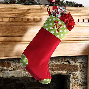Personalization Mall Personalized Christmas Stockings - Polka Dots at Sears.com