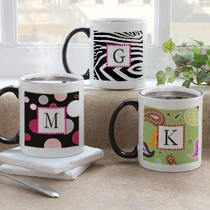 Initial Monogram Personalized Coffee Mugs for Her - 7606