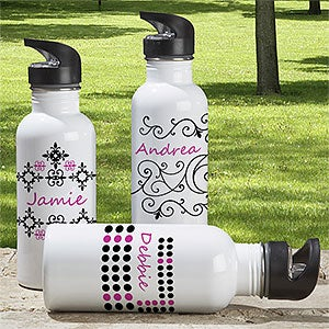 Personalized Aluminum Water Bottle for Women - 7608
