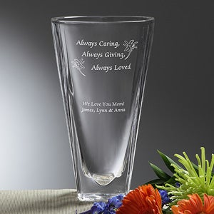 Personalization Mall Mother's Day Gifts -  Engraved Crystal Flower Vase - Always Loved at Sears.com