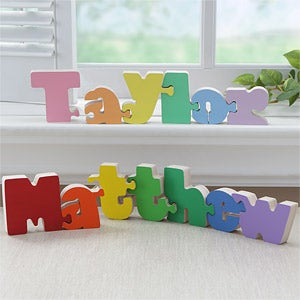 Personalized Wooden Name Puzzles For Kids