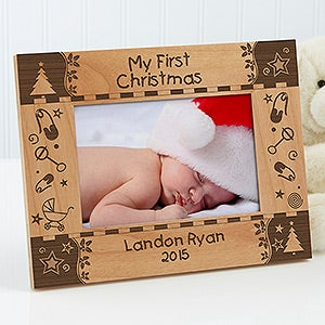 My First Christmas Personalized Baby Picture Frame - 7625
