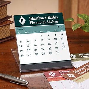 personalized executive desk calendars