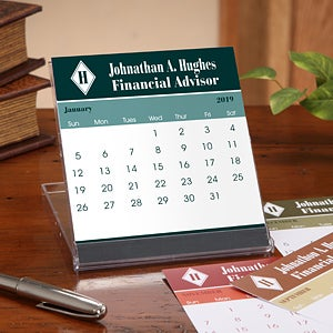 Executive Monogram Desk Calendar