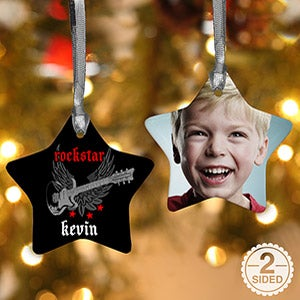 Rockstar Personalized Christmas Ornaments - 7652