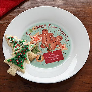Personalization Mall Personalized Cookies & Milk for Santa Plate at Sears.com