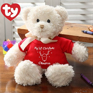 Personalization Mall Personalized Christmas Teddy Bear - Baby's First Christmas at Sears.com