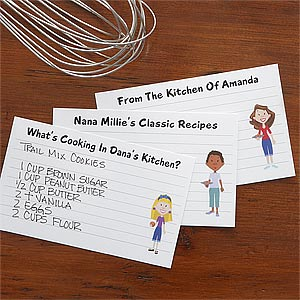 Personalized Recipe Cards - Family Characters - 7700
