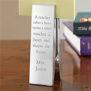 Personalized Teacher Paperweights