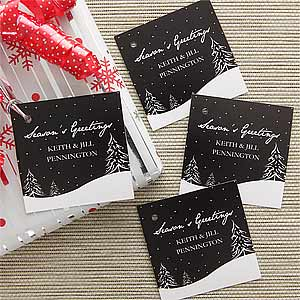 Personalized Christmas Gift Tags - Winter Snowscape - 7745