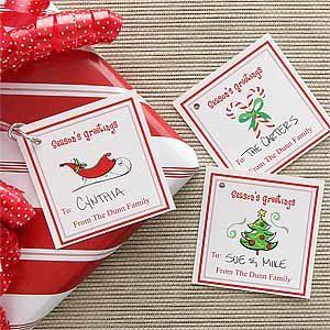 Personalized Christmas Gift Tags - Season's Greetings