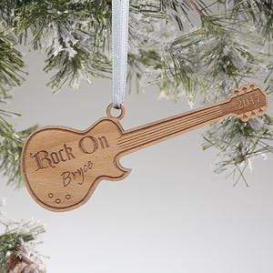 Personalized Guitar Christmas Ornaments