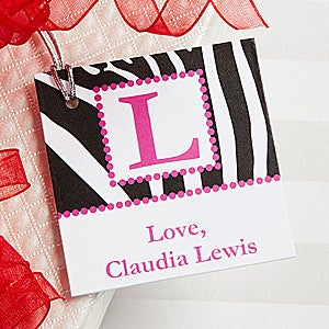 Personalized Gift Tags - Animal Print, Polka Dots, Swirls, Argyle Paisley - 7754
