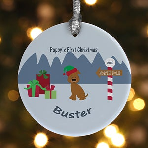Personalized Pet Christmas Ornaments - Dog or Cat Character - 7758
