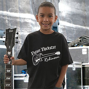 Personalization Mall Personalized Kids Guitar T-Shirt - Future Rockstar at Sears.com