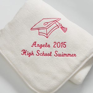 Personalization Mall White Personalized Graduation Blankets - Fleece Throw at Sears.com