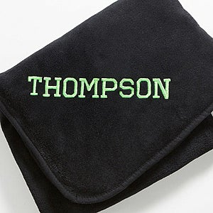 Personalization Mall Personalized Black Fleece Blanket - Game Day at Sears.com