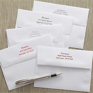How To Label A Wedding Gift Envelope : ... Return Address Personalized Greeting Card Envelopes - A7 - 7833