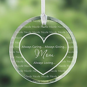 Personalized Suncatchers - Always Loved Heart Design - 7841