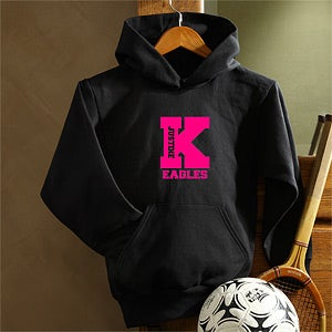 Personalization Mall Girls Sports Team Personalized Black Hoodie at Sears.com