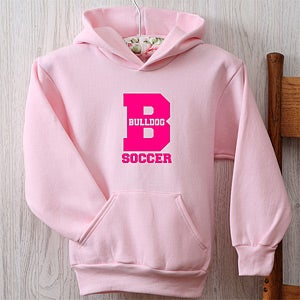 Personalization Mall Sports Team Personalized Girls Hoodies - Pink at Sears.com