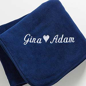 Personalized Fleece Blankets for Couples - 7847