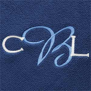 Personalization Mall Monogram Personalized Fleece Blanket - Navy Blue at Sears.com