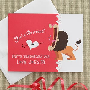 Personalized Kids Valentine's Day Cards - You're Great - 7877
