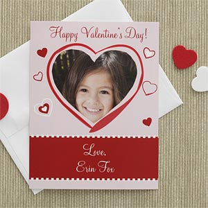 Personalized Valentine's Day Cards for Kids - Photo Heart - 7879
